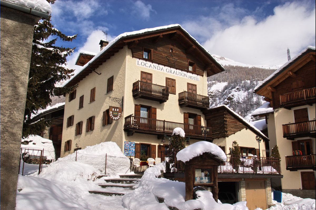 Hotel Grauson Lussert a Cogne in inverno