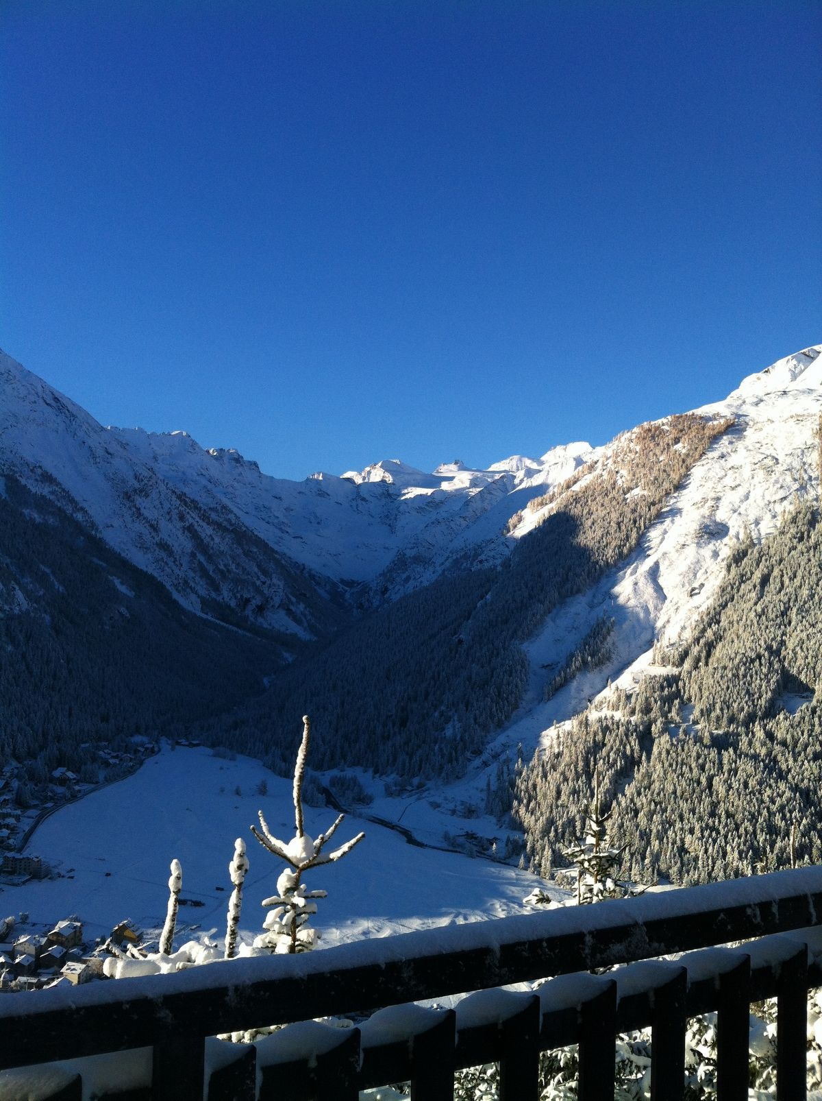 Panorama invernale dall'Hotel Belvedere a Cogne